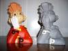 bustes de spirou couleur et monochrome
